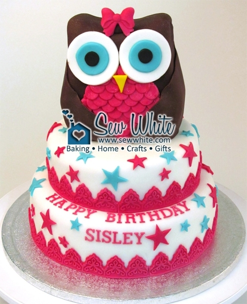 Magnificent Owl Birthday Cake How To Tutorial How To Make An Owl Cake Birthday Cards Printable Riciscafe Filternl