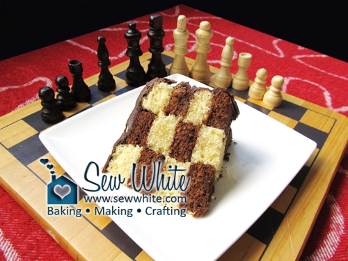 Sew White chess secret design cake