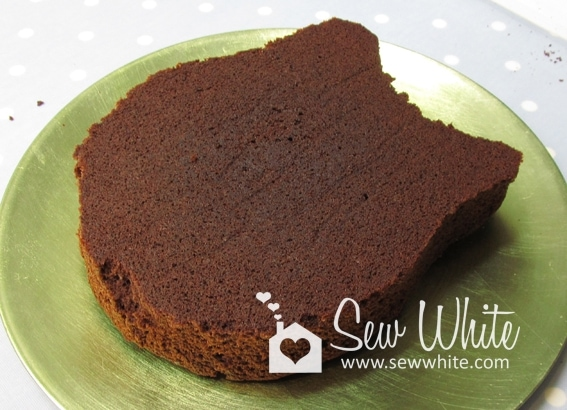 I Started Making Off A Square Chocolate Sponge And Placed The Template On Top Cut It Out Then Covered With Ganache
