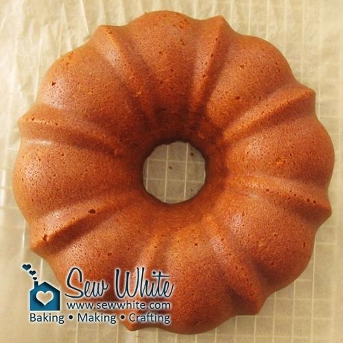 freshly baked golden brown Passion fruit bundt cake