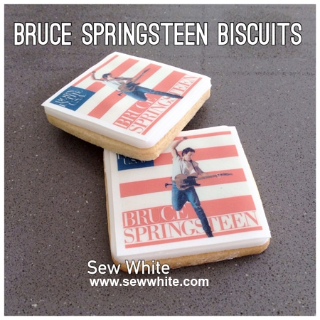Sew White Bruce Springsteen album cover biscuits 5