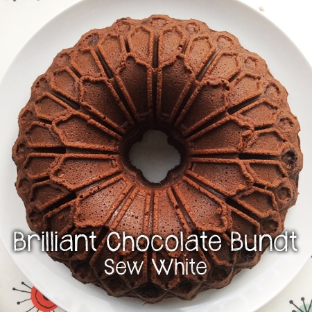 Chocolate bundt cake fresh from the oven