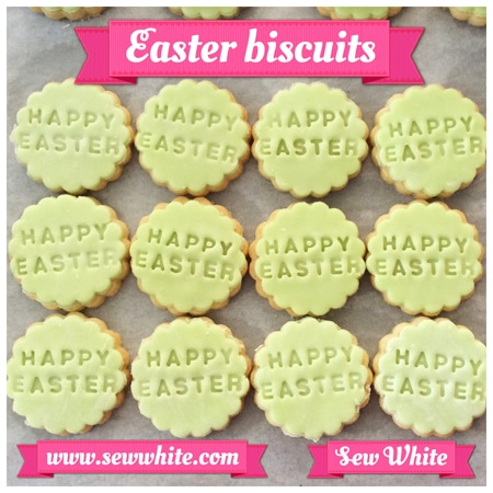 Sew White Easter Word Bird Biscuits 1