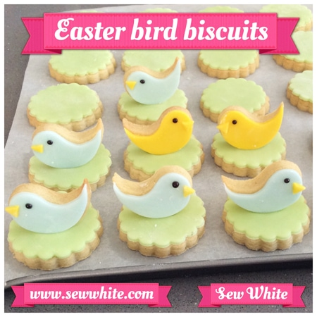 Sew White Easter Word Bird Biscuits 4