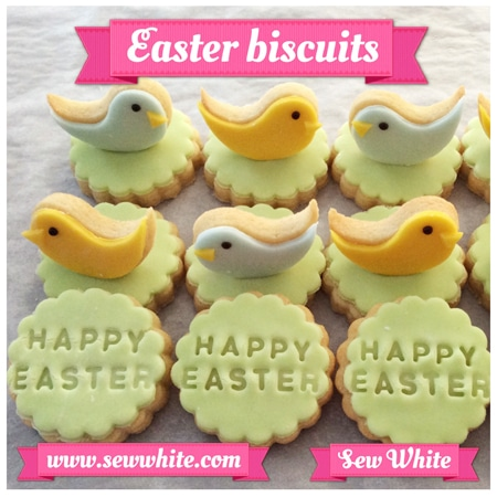 Sew White Easter Word Bird Biscuits 5