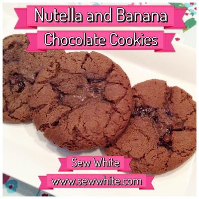 Sew White nutella banana chocolate cookies 1
