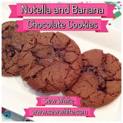 Sew White nutella banana chocolate cookies 1