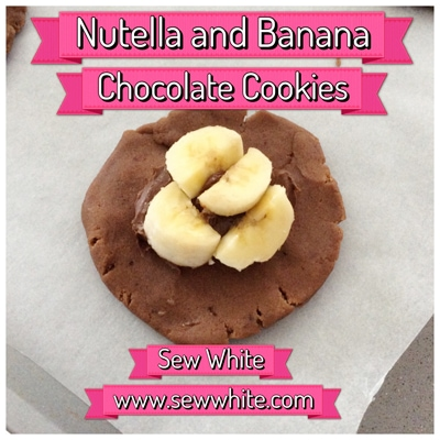Sew White nutella banana chocolate cookies 3