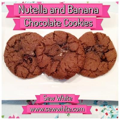 Sew White nutella banana chocolate cookies 4