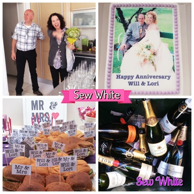 Sew White surprise wedding anniversary party 3