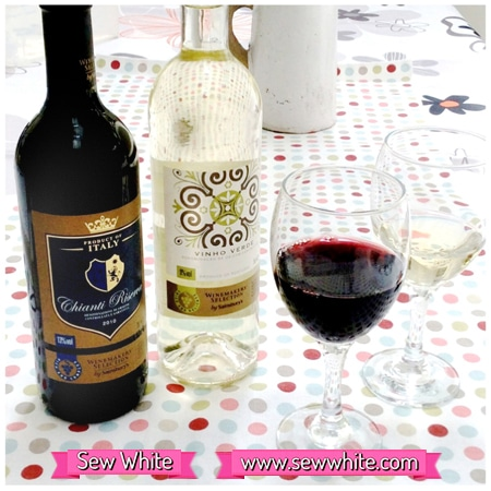 Sew White Sainsbury's wine review 2 chianti and Vinho Verde