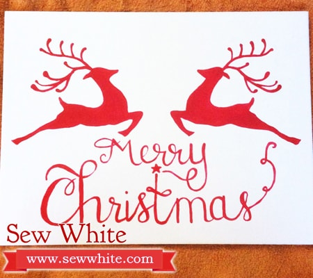 Sew White Christmas tile painting 5