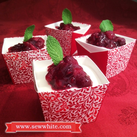 Sew White Quark Christmas Cranberry Cheesecake recipe 1