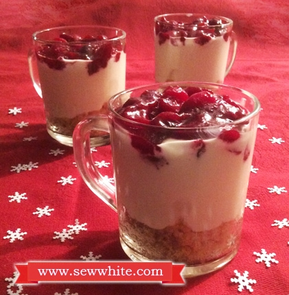 Sew White Quark Christmas Cranberry Cheesecake recipe 2