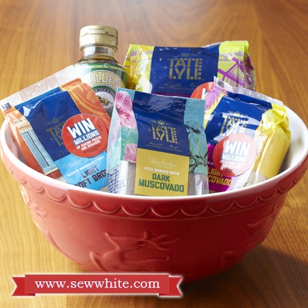 Mason cash bowl filled with tate and Lyle ingredients