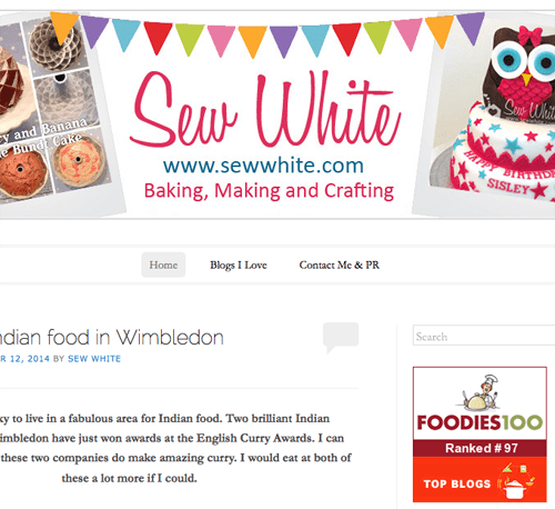 Sew White top 100 foodies 100 1