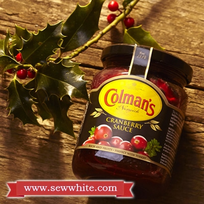 coleman's cranberry sauce in the Christmas Baking Supplies round up