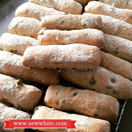 olive bread fresh out of the oven