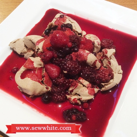 Sew White Warm Fruit Chocolate Meringue Pudding Valentine's Day 7