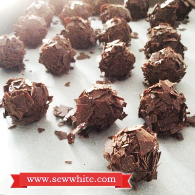 Sew White chocolate at home truffles 4