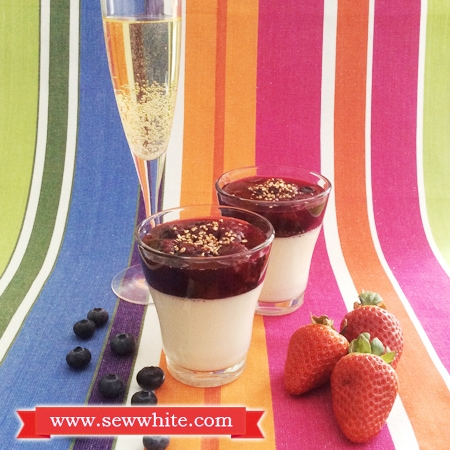 Sew White Champagne and berries panna cotta 1