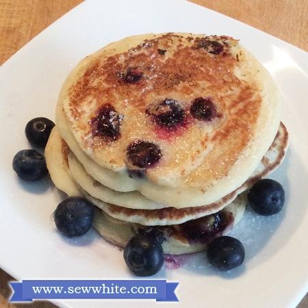 Sew White lactofree gluten free blueberry pancakes 2