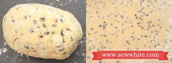 Cranberry and Lime Welsh Cakes dough