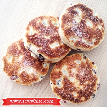 golden brown and sugar dusted welsh cakes