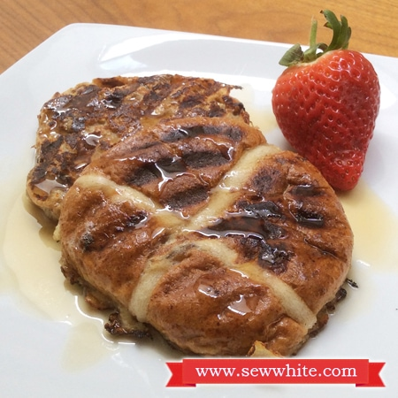 Sew White Hot Cross Bun French Toast 1