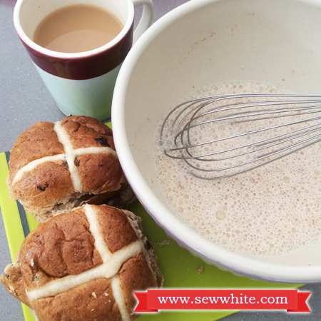 Sew White Hot Cross Bun French Toast 2