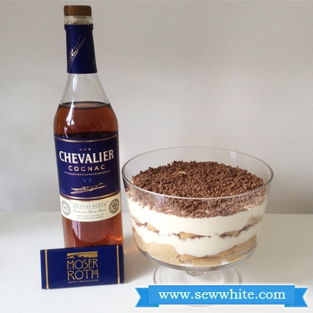 Sew White chocolate and Cognac tiramisu 1
