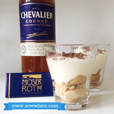 Sew White chocolate and Cognac tiramisu 2
