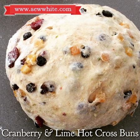Sew White cranberry and lime hot cross buns recipe 4