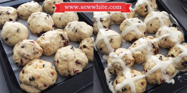 Sew White cranberry and lime hot cross buns recipe 5