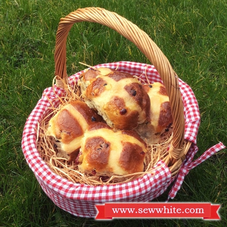 Sew White cranberry and lime hot cross buns recipe 6