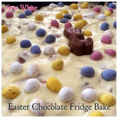 Sew White Easter chocolate fridge bake bark 4