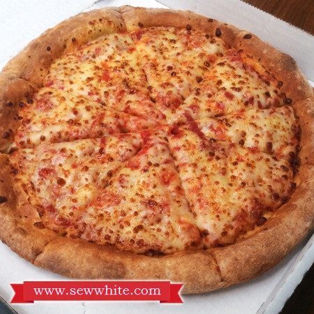 Trying out pizza from Papa Johns