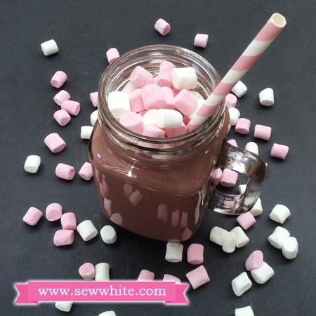 Sew White Raspberry Chocolate and Cinnamon Milkshake recipe 1