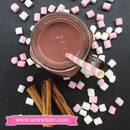 Sew White Raspberry Chocolate and Cinnamon Milkshake recipe 4