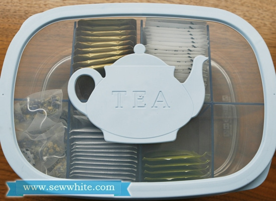 Sew White Snips review tea caddy 1