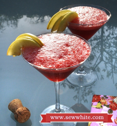 Sew White raspberry prosecco cocktails 1