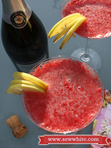 Sew White raspberry prosecco cocktails 4