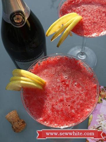 Sew White raspberry prosecco cocktails 4