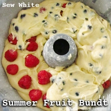summer fruit bundt