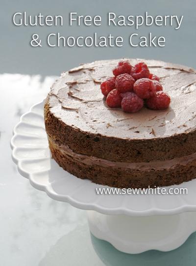 Sew White gluten free chocolate and raspberry cake 1