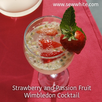 Sew White Strawberry, passion fruit wimbledon cocktail 2