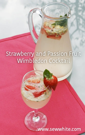 Sew White Strawberry, passion fruit wimbledon cocktail 44