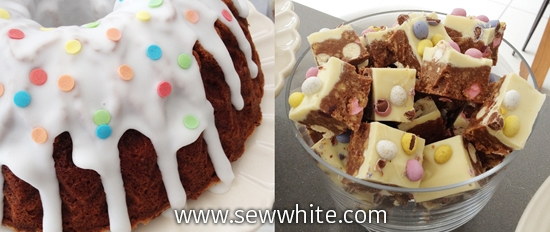 Sew White bundt cake maltesers fridge bake