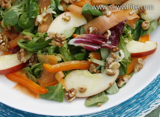 Sew White summer apple and carrot salad 2
