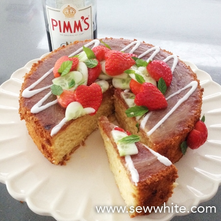 Pimm's Cake recipe Sew White 6